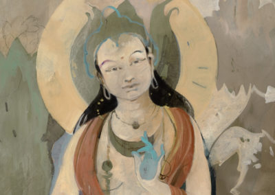 Green Tara, 48 x 36, Acrylic on canvas