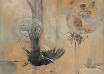 The Mamaku (NZ), 48 x 36; Ink, Acrylic and Charcoal on canvas