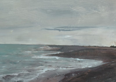 Rarangi Beach, 19 x 61, Acrylic on canvas