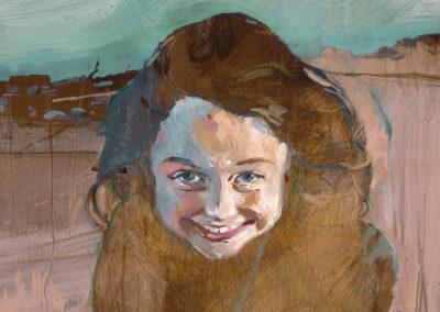 She Was Five, 41 x 23, Acrylic and Oil on board